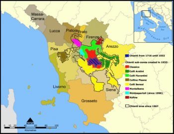 Chianti wine zones
